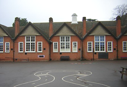 School building from the rear