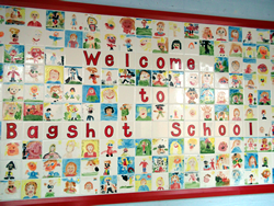Welcome to Bagshot Infant School sign